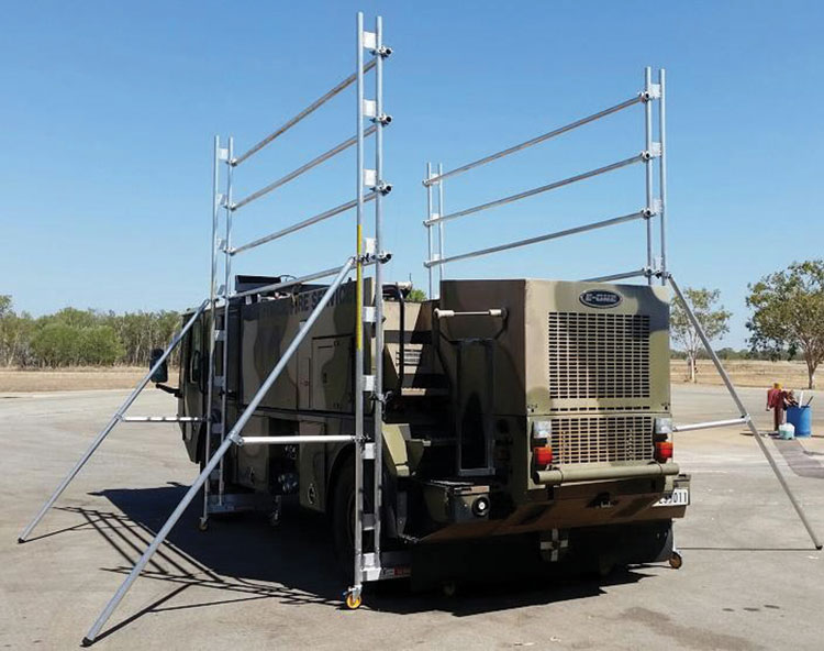Mobile Scaffold and Platforms for Defence Maintenance Workshops